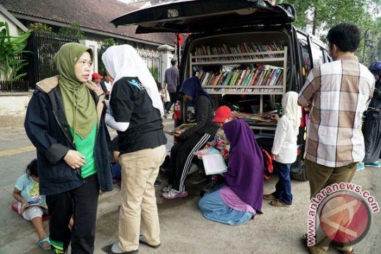 Mobil patroli polisi Garut ini diubah jadi perpustakaan keliling