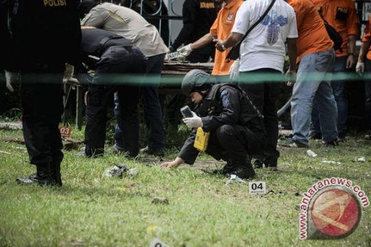 Puluhan petugas gabungan jaga lokasi bom Bandung