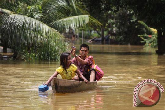 Sudah lima hari tiga desa di Riau direndam banjir