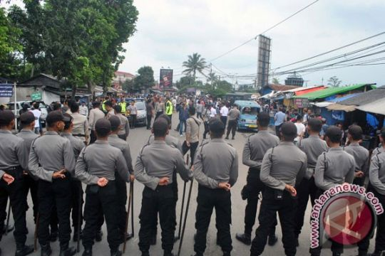 Polisi Bogor siaga saat situasi menghangat jelang kampanye