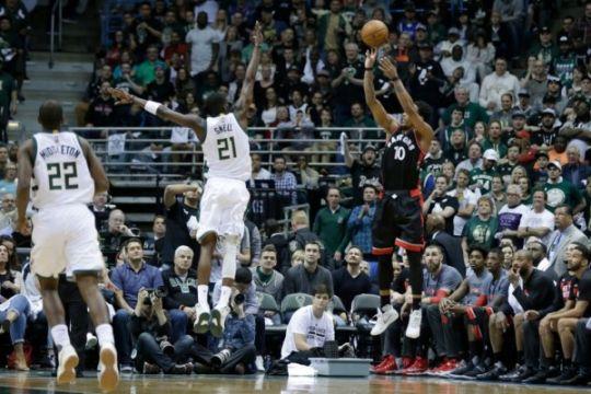 Raptors samakan kedudukan usai tundukkan Bucks di laga keempat