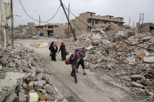 Pasukan Irak terlibat pertempuran sengit bersihkan ISIS dari Mosul