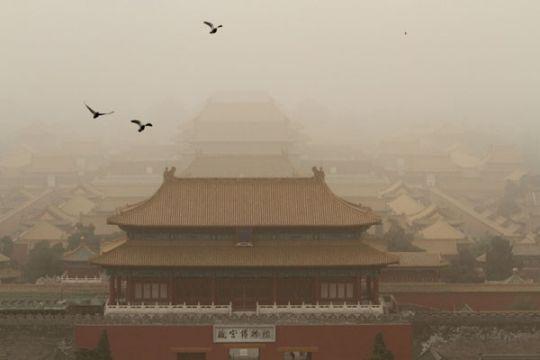 Badai pasir terjang Tiongkok utara