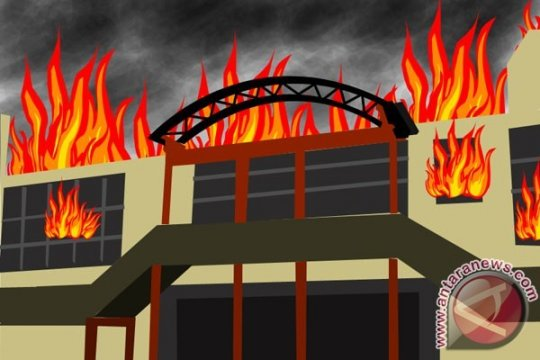 Malam Iduladha, kebakaran terjadi di Pasar Kambing