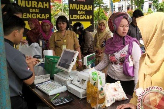 Sambut Lebaran pasar murah digelar DPTPH Kaltim