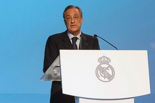 Presiden Real Florentino Perez positif terinfeksi COVID-19