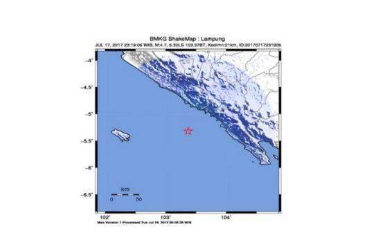 Gempa 3,7 SR di Pesisir Barat Lampung