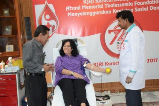 KJRI Karachi donor darah sambut HUT ke-72 RI