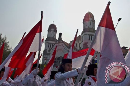 3.500 peserta ikuti Kirab Merah Putih di Banjarmasin