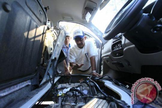 PGN pasang ratusan konverter kit gratis di mobil dinas dan angkot di Lampung