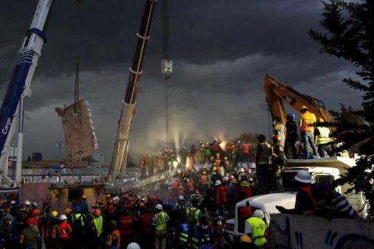 Gempa baru picu kepanikan di Mexico City