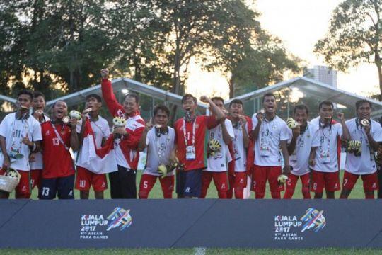 ASEAN Para Games  - Indonesia juara setelah menaklukkan Thailand 3-0