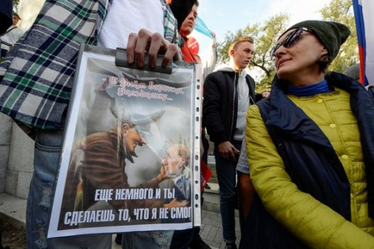 Polisi Moskow tahan pemimpin oposisi jelang pemilihan presiden
