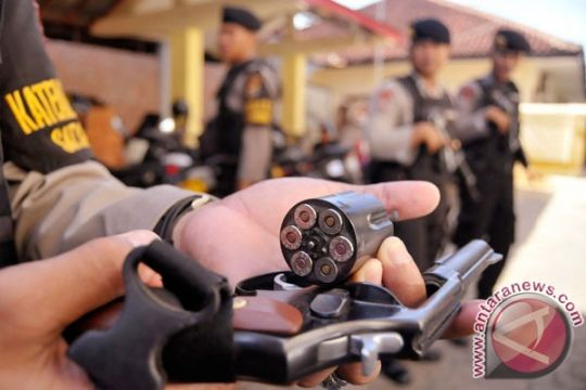 Polres Bolaang Mongondow gelar latihan penggunaan senjata