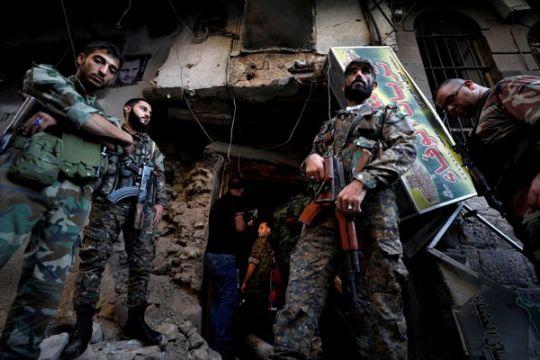 Gerilyawan serang pasar di Damaskus, 35 orang tewas