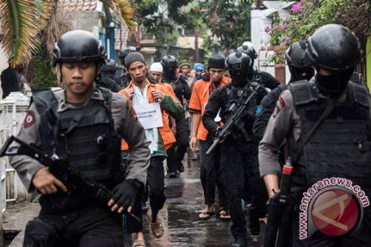 Densus 88 tangkap delapan teroris penyerang Polda Riau
