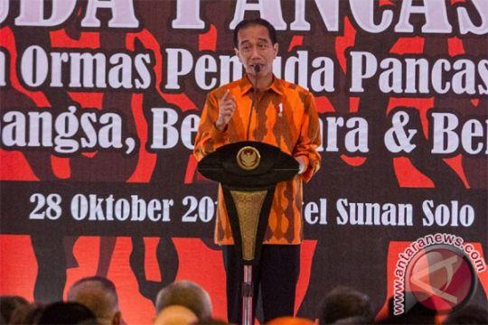 Presiden Jokowi: Ormas pemuda jadi benteng NKRI