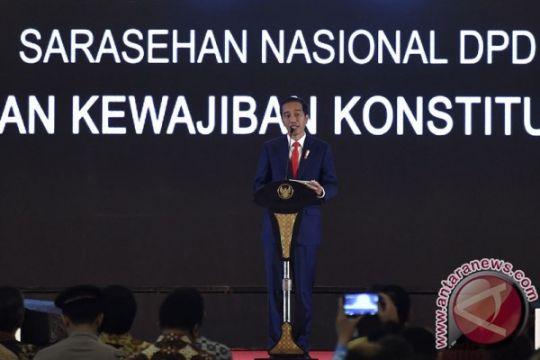 Presiden Jokowi promosikan dana desa di depan DPD