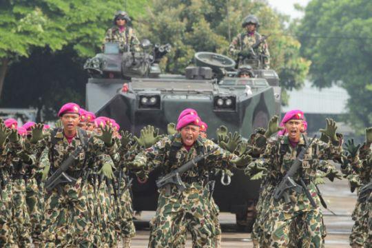 Panglima TNI bersilaturahmi dengan Marinir