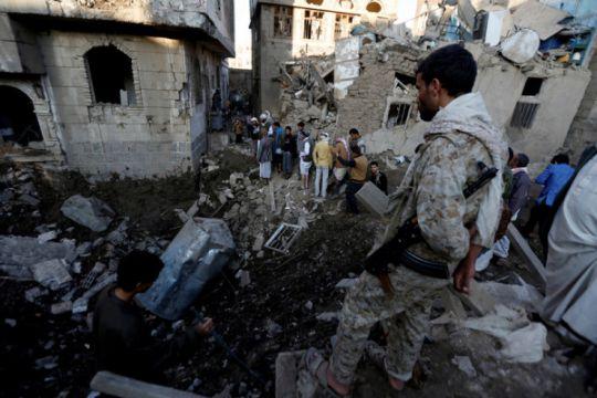 Koalisi pimpinan Saudi serang ibu kota Yaman