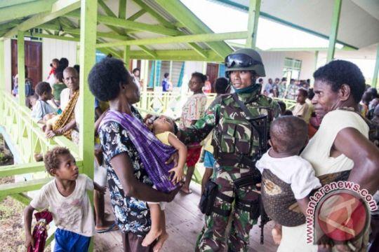 Bakti sosial di Kampung Aroanop-Papua digelar TNI-Polri