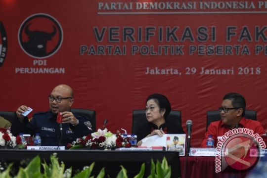 KPU: PDI Perjuangan lulus verifikasi faktual tingkat pusat