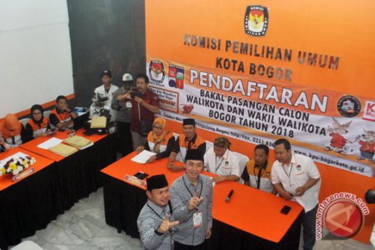 Pasangan Petahana Pilwalkot Bogor 2018