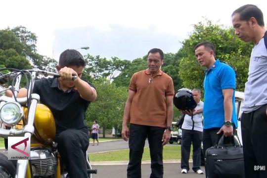 Presiden Jokowi beli motor modifikasi bergaya chopperland