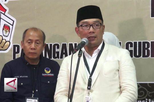 Ridwan Kamil-UU Jadi  Paslon Pertama yang Mendaftar