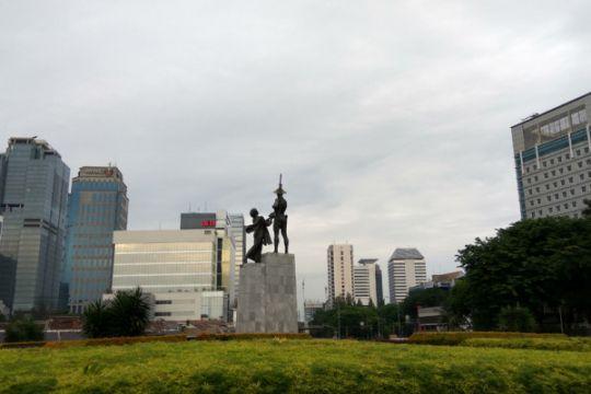 Jakarta sebagian besar berawan hari ini