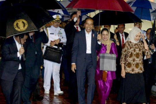 Presiden tiba di Tanah Air