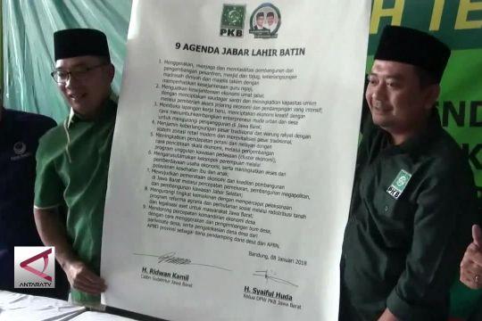 PKB Genapkan Dukungan ke Ridwan Kamil-Uu Ruzhanul