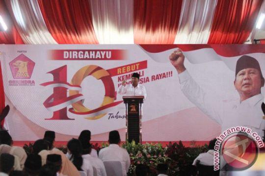 Kader serukan dukungan untuk Prabowo saat HUT Gerindra