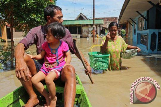 Ratusan keluarga Bojonegoro bertahan di pengungsian banjir