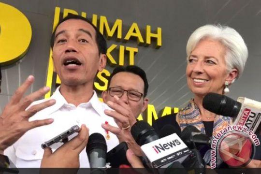 """Dibriefing Jokowi soal JKN, bos IMF terkesan dan bilang """"fantastis"""""""