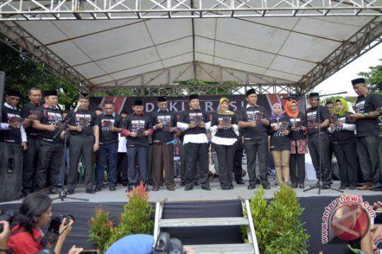 Deklarasi Tolak Politik Uang Dan Sara Lampung