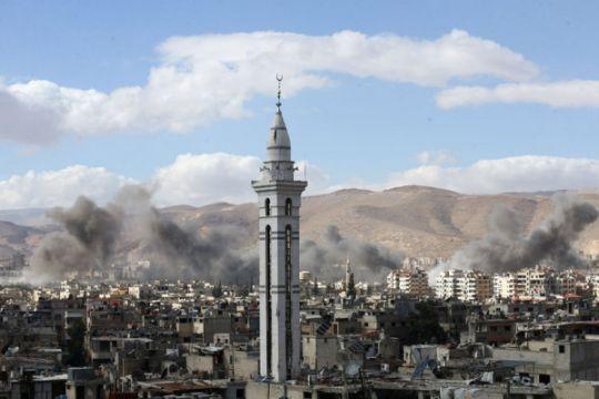 Foto untuk tunjukkan serangan kimia Suriah rekayasa ternyata dari film