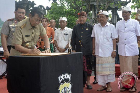 Dua calon gubernur Bali deklarasi kampanye damai