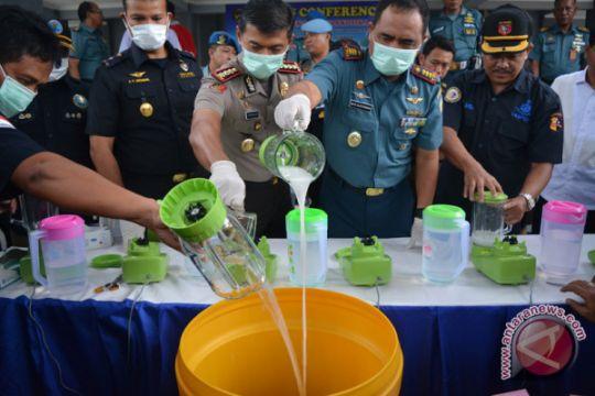 Polda Sumsel musnahkan sabu-sabu 1,8 kilogram