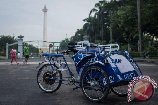 "Becak listrik Jakarta ""Be'ol Cepirit"" dalam masa uji coba"