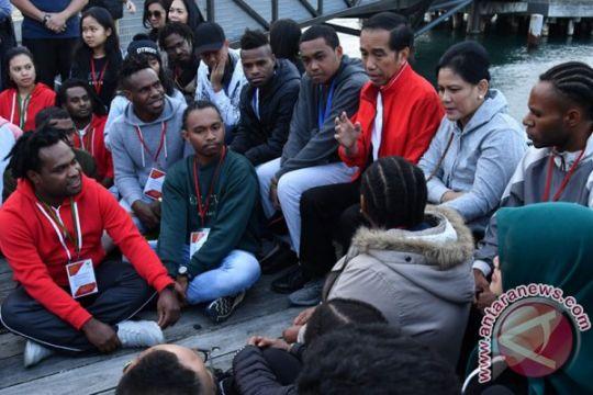 Presiden mengobrol santai dengan pelajar Indonesia di Wellington
