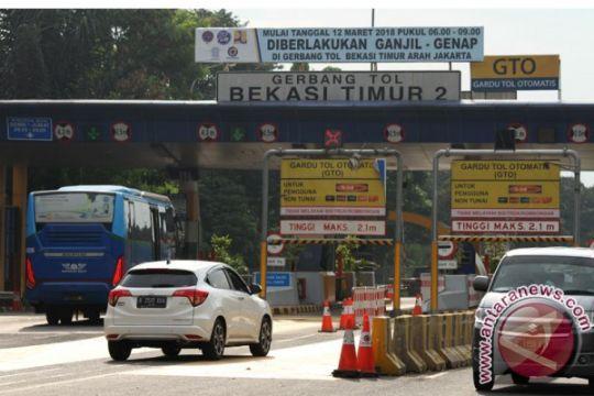 Tilang ganjil-genap di tol Bekasi diberlakukan mulai Selasa