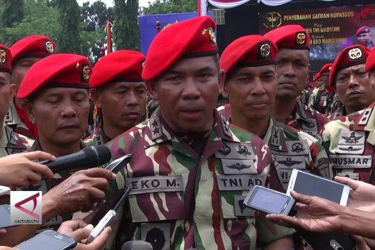 Mayjen TNI Eko Margiyono terima pasukan Kopassus