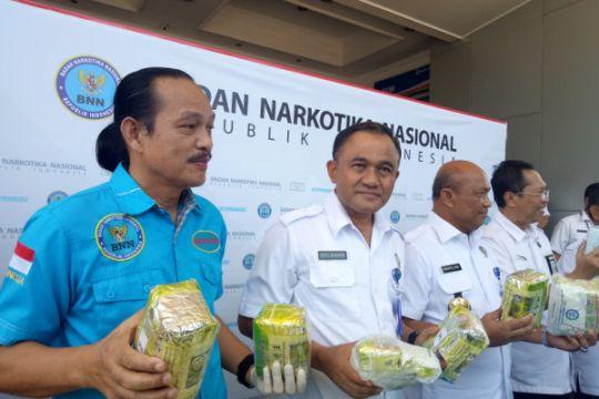 BNN gagalkan penyeludupan 44,7 kilogram sabu di Sumatera