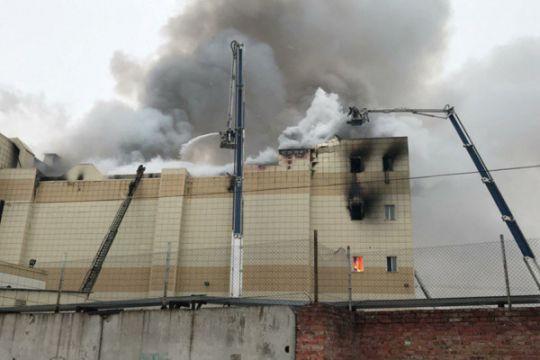 Kasus kebakaran di mall Siberia, Seluruh Rusia bendera setengah tiang
