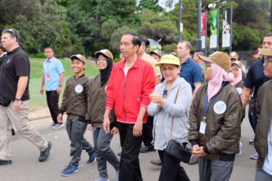 Presiden olahraga pagi bersama pemuda Indonesia di Australia