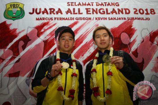 Marcus dan Kevin memotivasi atlet muda di SKO Ragunan