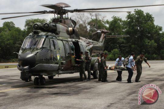 Logistik korban longsor gowa dikirim gunakan helikopter
