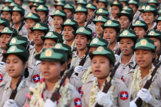 Myanmar bebaskan 75 anak dari dinas militer