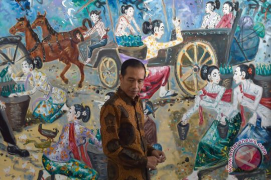 "Presiden ""tur"" lukisan di Kantor Kementerian Setneg"